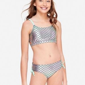 Justice Mermaid Scales Side Slit Bikini